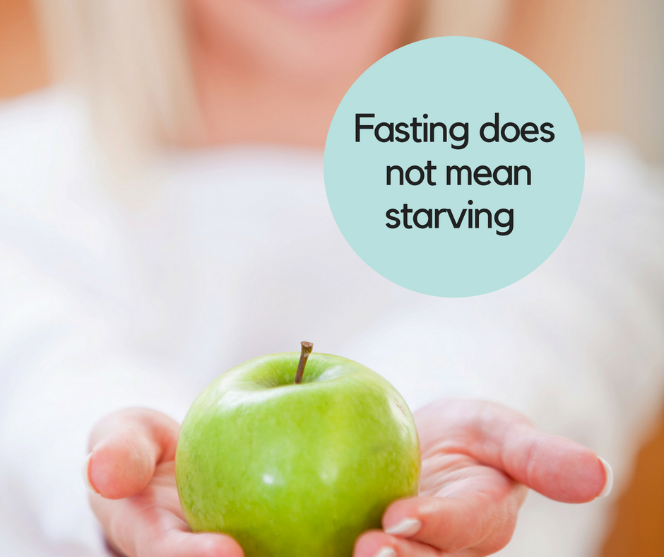 Fasting is not starving